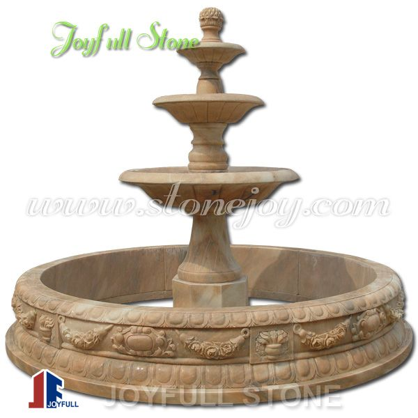Outdoor Red Marble Stone fountains for sale