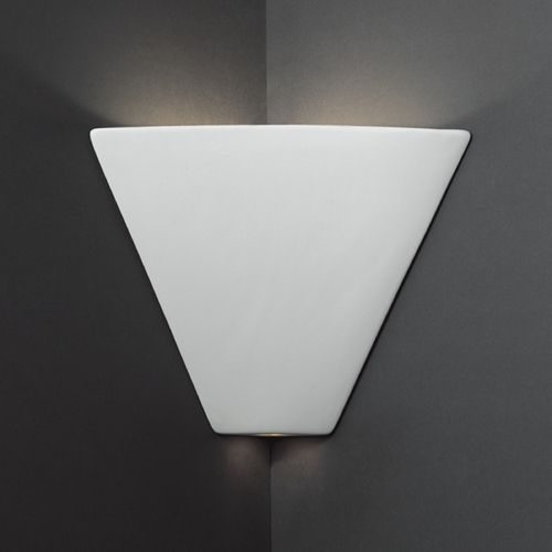 Dark corners no more! Triangle Corner Sconce Wall Light in Bisque Finish by  Justice Design