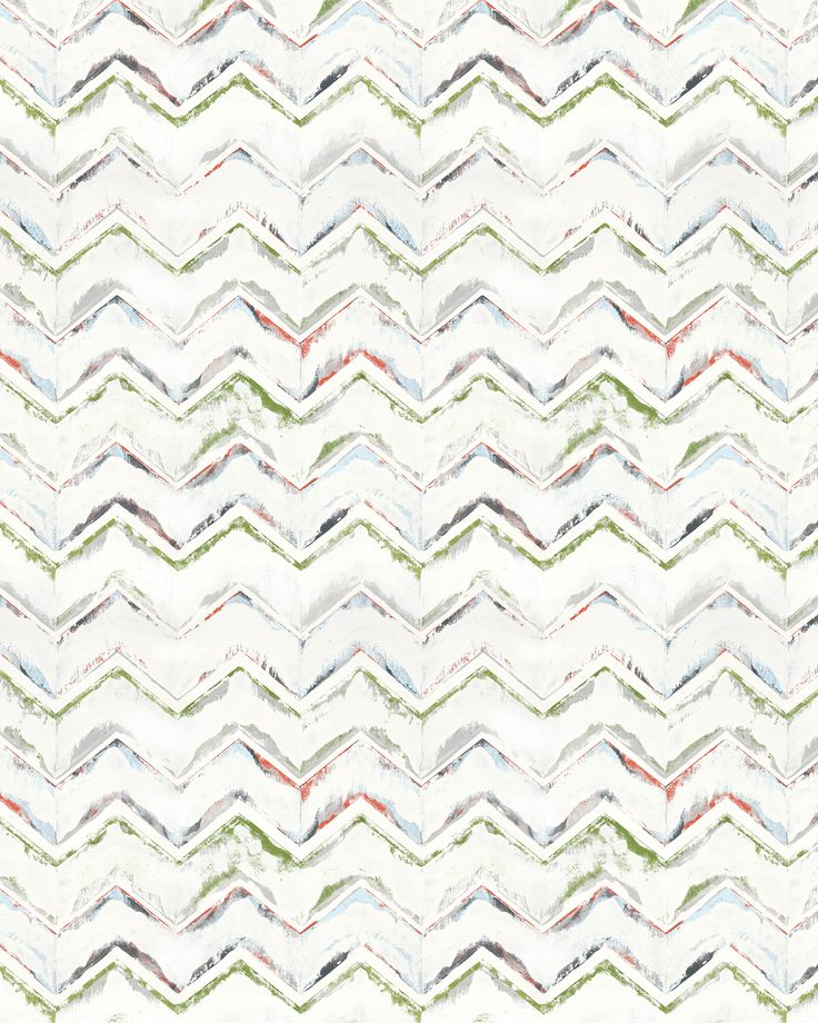 Masser af farver i detaljen med dessin Zigzag. Brug det til rullegardiner eller panelgardiner, og få en fantastisk effekt, når du leger med mønstermix i dit hjem.
