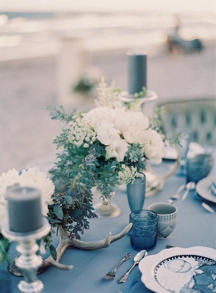 Construindo Minha Casa Clean: Ideias de Decoração de Casamento em Azul - Ao ar Livre!