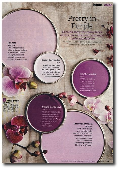 Better Homes and Gardens - Pretty in Purple | January 2012