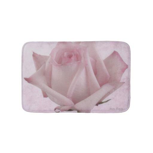 Soft Pink Rose Flower Bath Mats