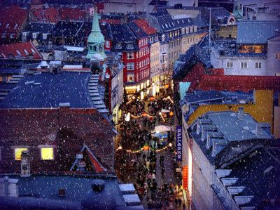 Copenhagen Christmas market (København, Danmark, Danish, Denmark, travel, Europe, city, capital, visit, beautiful, cool, awesome, centre, Købmagergade, view from The Round Tower (Rundetårn))