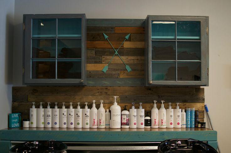 Shampoo back bar,, rustic décor, AG hair products