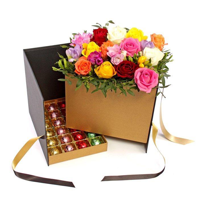 Luxury Floral & Chocolate Hamper   GettingPersonal.co.uk