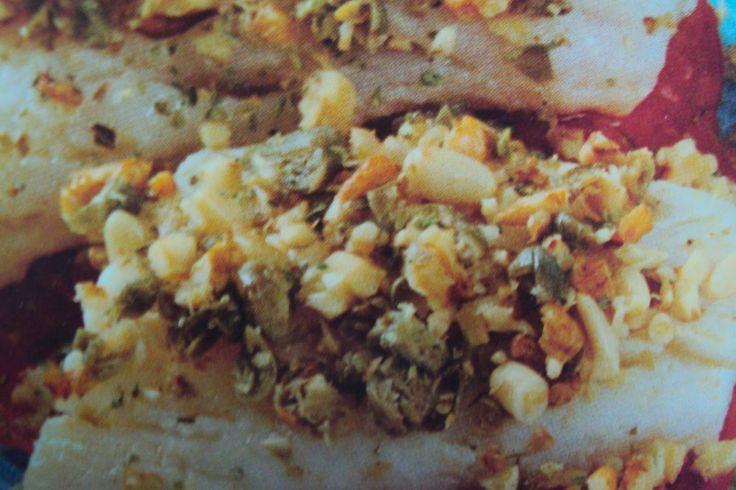 le ricette di chycca: Filetti di nasello al trito di noci e pinoli