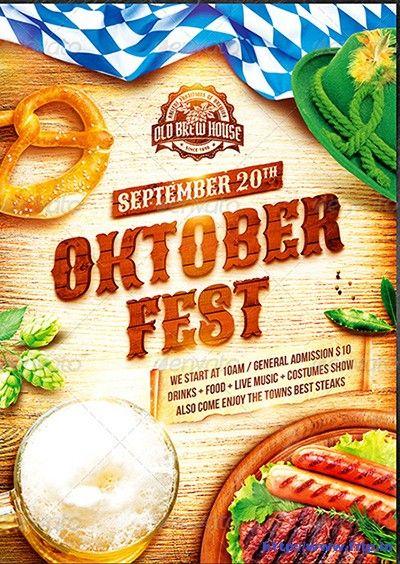 35 Best Oktoberfest Festival Party Flyer Print Templates 2019