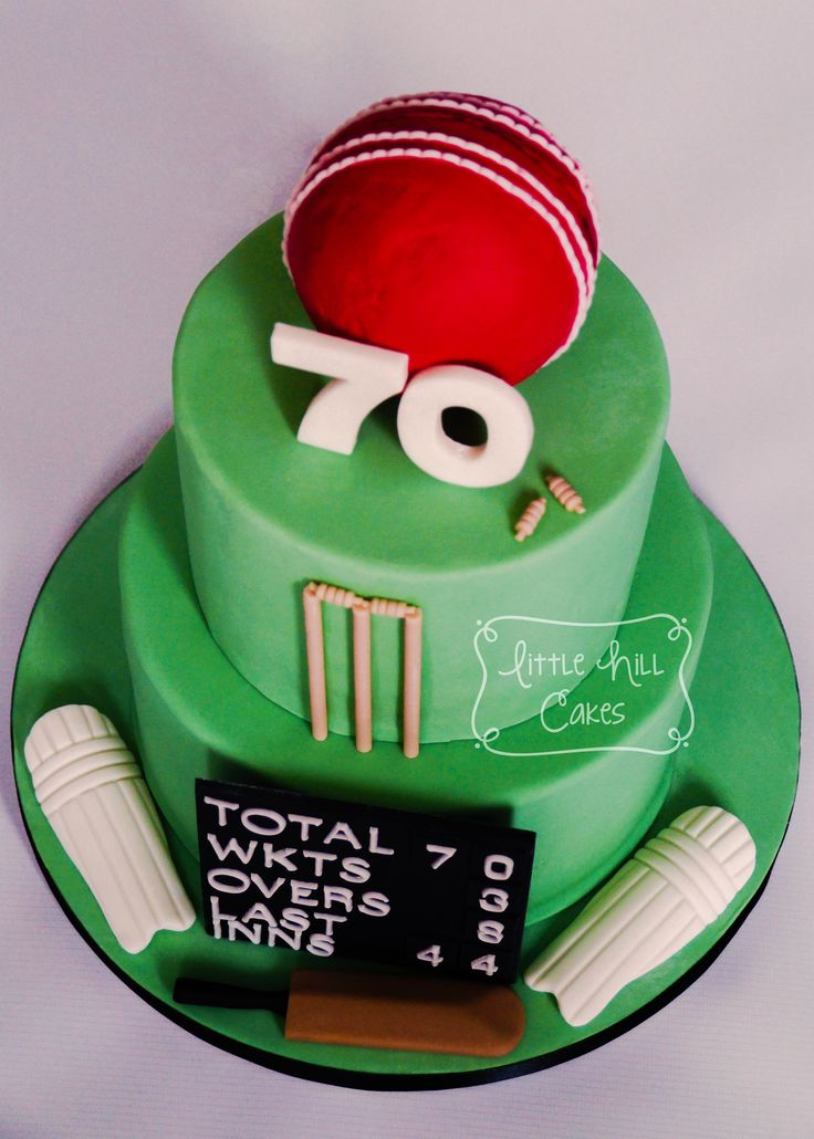 Cricket Cake for a 70th Birthday