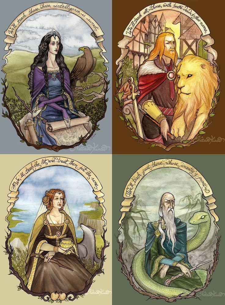 Les 4 fondateurs , style vitraux d'église