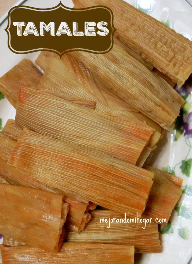 Receta Tamales Mexicanos de Pierna de Puerco y Frijol. Aprende a preparar Tamales, Ingredientes para 100 personas. Masa de Nixtamal y Maseca.
