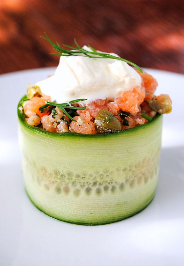 Gin-Cured Salmon Gravadlax, Tartare-Style | Scrumptious South Africa #LCHF #lowcarb