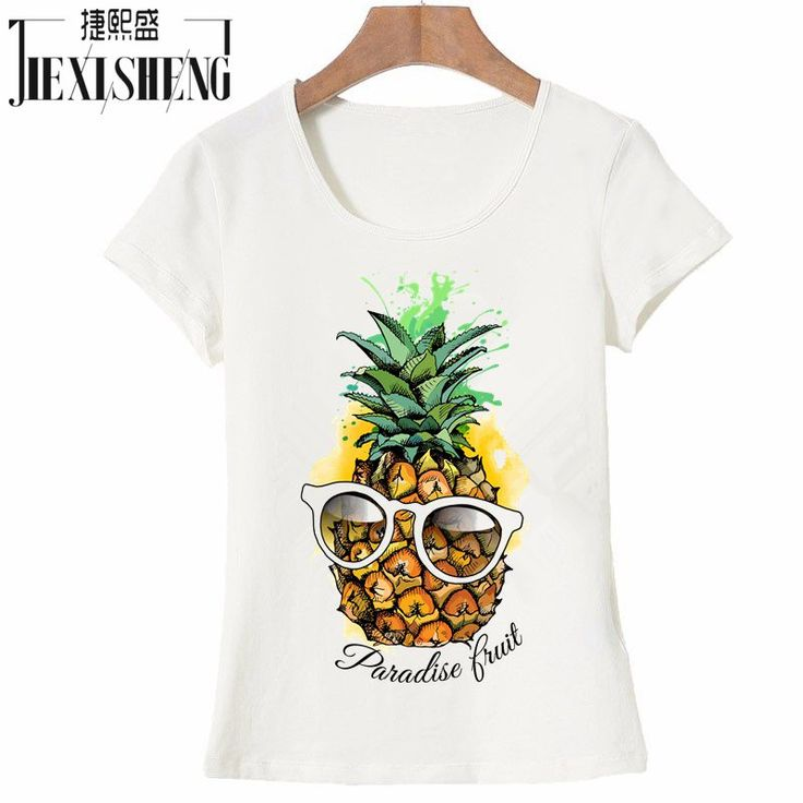 US $6.60 -- AliExpress.com Product - 2017 Hot Sale Fashion fruit pineapple Design Women's Creative Printed T-shirt Short Sleeve women Funny Tops Hipster Casual Tee