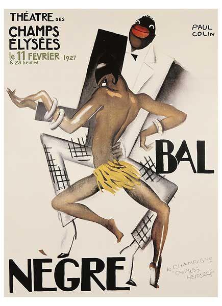 Bal Negre Art Print by Paul Colin Black Thunder (Josephine ...