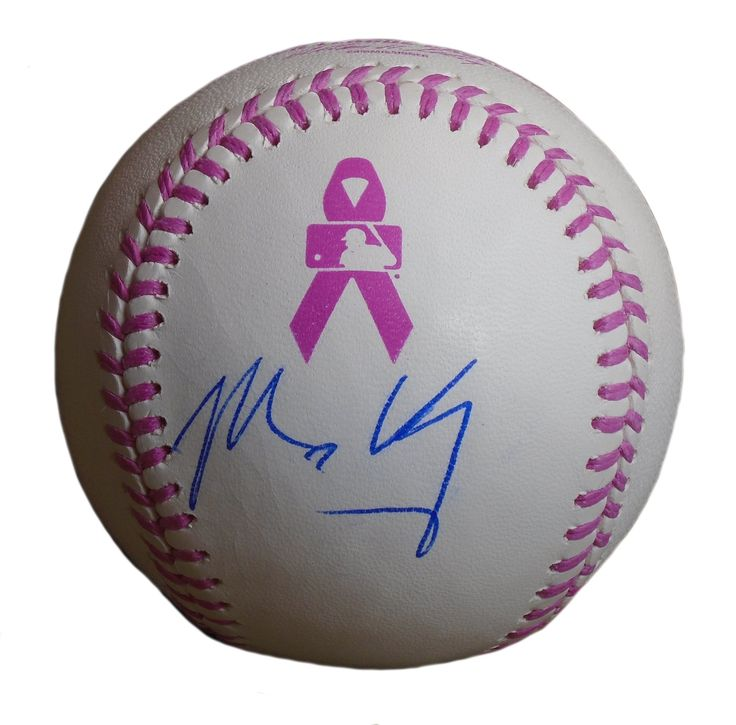 Matt Kemp Autographed Pink Breast Cancer Awareness Logo ROMLB Baseball, Proof. Matt Kemp Signed Rawlings ROMLB Pink Breast Cancer Awareness Baseball, Atlanta Braves, San Diego Padres, Los Angeles Dodgers, Proof   This is a brand-new Matt Kemp autographed Rawlings ROMLB pink Breast Cancer Awareness logo official game baseball.  Matt signed the baseball in blue ball point pen. Check out the photo of Matt signing for us. ** Proof photo is included for free with purchase. Please click on images…