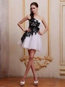 Nice Cocktail Dress For Js Prom Black And White 2018