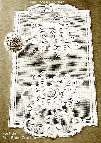 crochet - caminhos de mesa -runners - Raissa Tavares - Λευκώματα Iστού Picasa