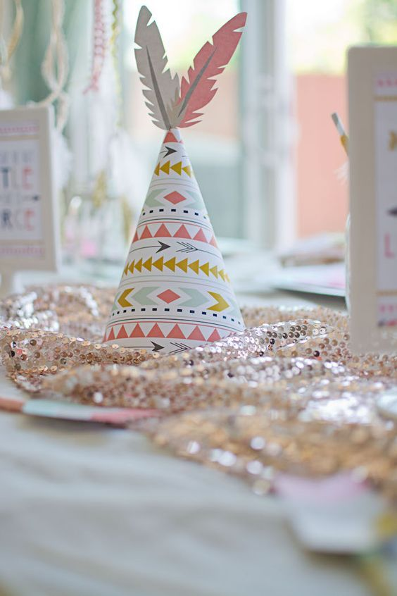 78 ideas about tribal baby shower on pinterest for Baby girl birthday decoration ideas