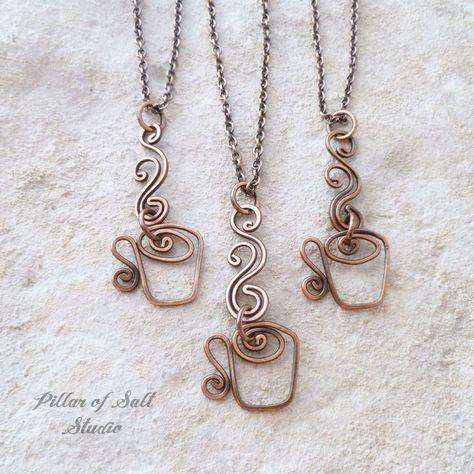 Kaffeebecher Halskette von Pillar of Salt Studio / Kupfer Schmuck / Geschenkidee… – Best Jewelry