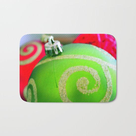 Green Christmas Ornament | Nadia Bonello | Canada Bath Mat by Tru Artwear | Society6