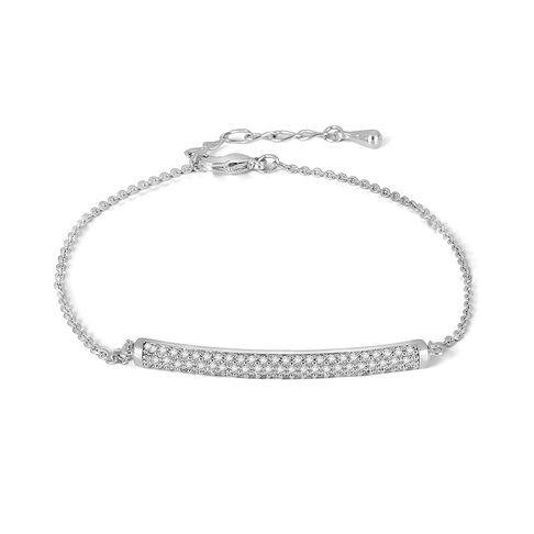 Bar Bracelet in Cubic Zirconia Silver