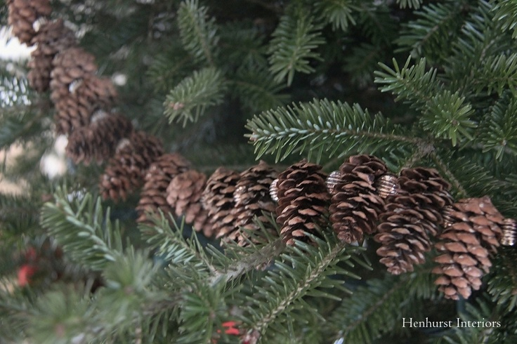 a homemade garland of pinecones - blogger says this one has been used for 18 years!