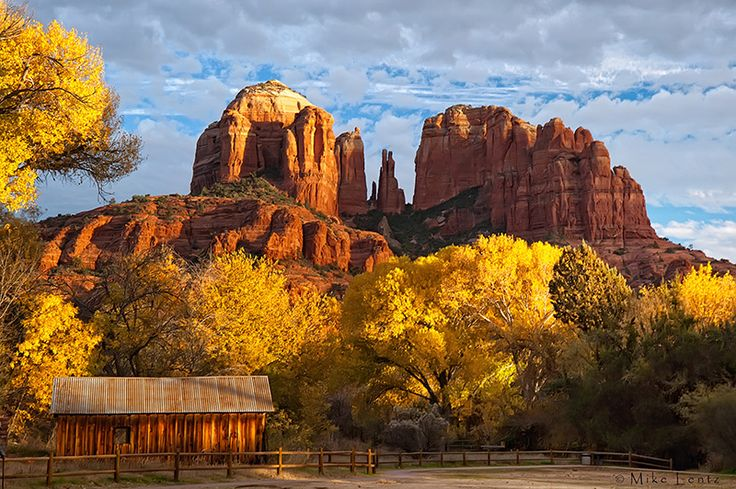 Cathedral Rock (Sedona) Fall scene by Mike Lentz ...