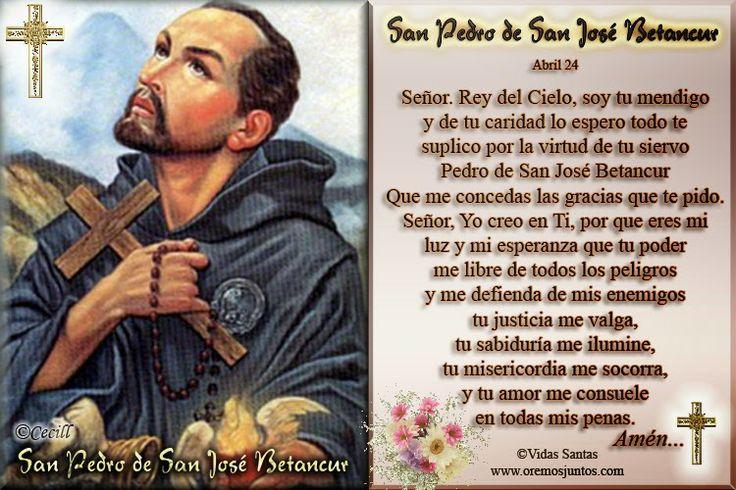 Vidas Santas: Estampita Oración a San Pedro de San José Betancur