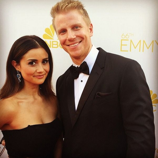 Catherine and Sean Lowe Attend Emmys 2014 — See How Amazing They Looked! Sean and Catherine Look Red Hot on the Red Carpet! While we were sitting in our pajamas with a pint of Cherry Garcia, a jug o' wine, and a bad case of jelly over the gorgeous gowns on the red carpet at the Emmys 2014, The Bachelor Season 17's Sean and Catherine Lowe were walking that red carpet looking pretty darn dapper.