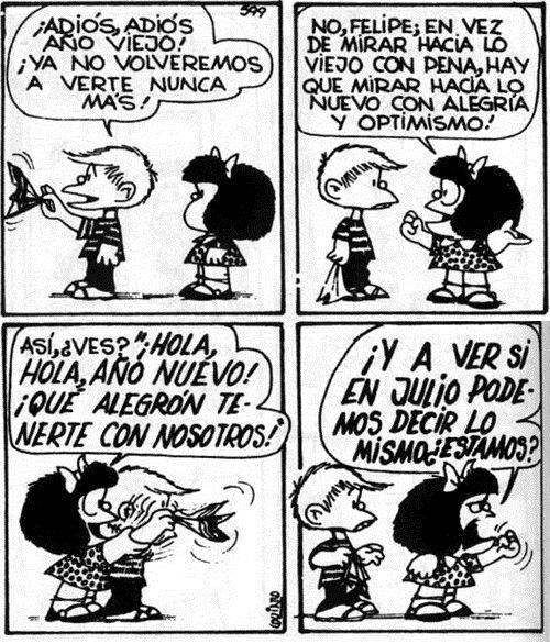 Año viejo, Año nuevo. Mafalda