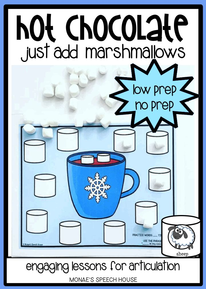 "This SUPER FUN HOT COCOA FOR /k/ and /g/, initial, medial and final ""SH"" and **BONUS COMPLEX /s/ blends will give you and your students lots of opportunities to work on speech sounds WHILE HAVING TONS OF FUN! Speech therapy materials for articulation and phonology fun. Perfect for SLPs, special education."