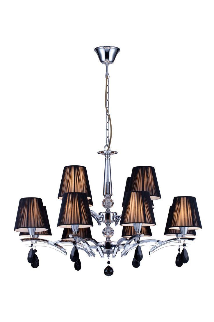 modern kronleuchter arte chrom kronleuchter schirm. Black Bedroom Furniture Sets. Home Design Ideas