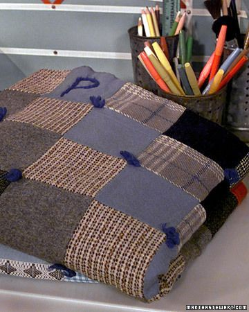 Quilting always seemed like too much patience and detail for me, but thanks the Martha, I might give this a try.