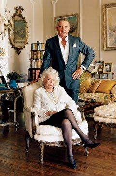 Zsa Zsa Gabor and her ninth (or so) husband, Prince Frédéric von Anhalt, at home in Bel Air. Photograph by Jonathan Becker. Enlarge this photo.