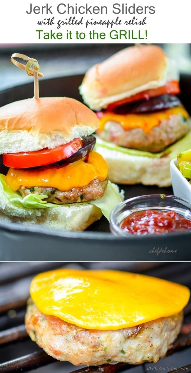 Spicy Grilled Chicken Sliders with Grilled Pineapple Salsa ...
