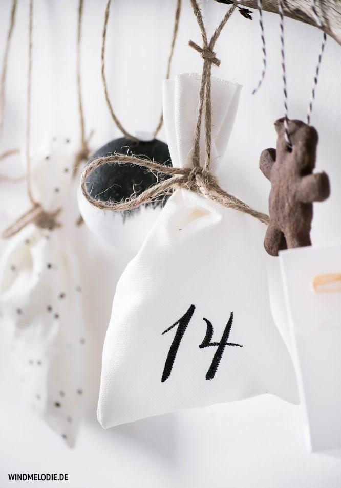 DIY Advent scandi Scandinavian style black branch