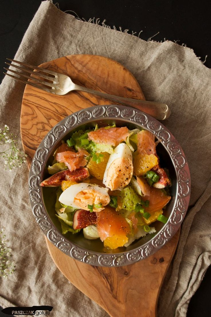 Sałatka z łososiem i figami | Paszczaki gotują