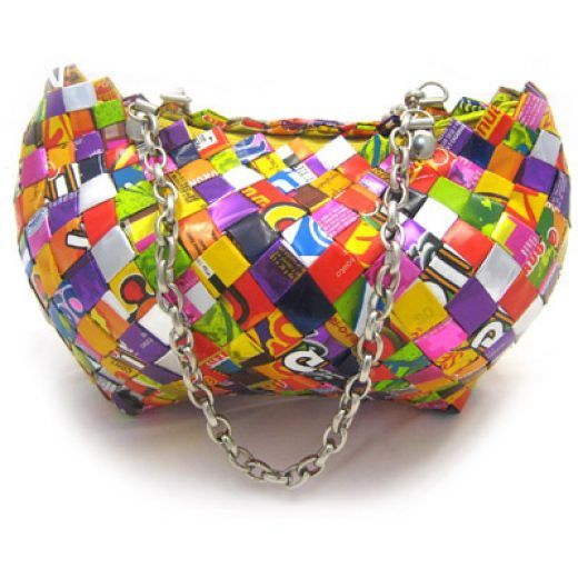 How to Recycle: Elegant Gift for Christmas - Recycled Candy Wrapper Handbags and Purse