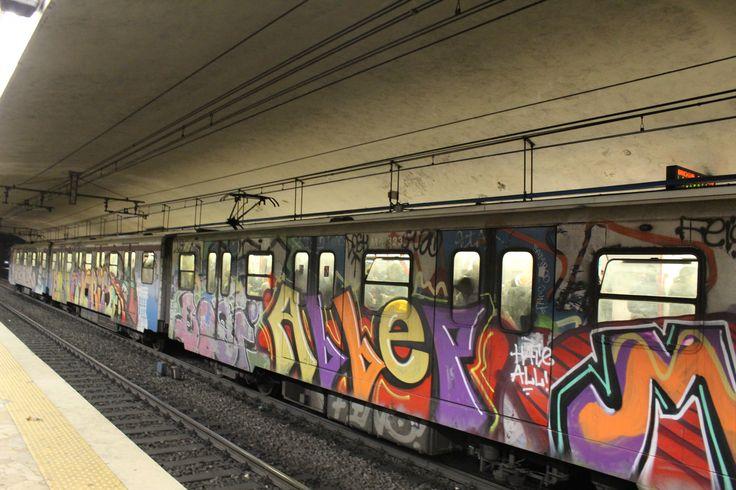 Metro station - Rome, Italy #italy #paint #metro #dirty