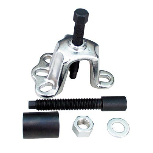 AMPRO T73916 Front Hub Remover/Installer Set Universal design for pulling off front hubs and aligning interference fit spline half shafts during installation. Removes and installs front hubs during CV joint replacement, transaxle and wheel bearing servicing without damaging wheel bearings. Additional locknut enables the use of a standard slide hammer puller for removal of rear axle flanges.