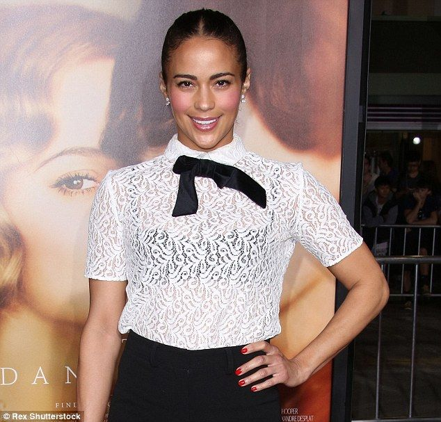 Pretty in lace: Paula Patton looked youthful at the Danish Girl premiere in LA on Saturday