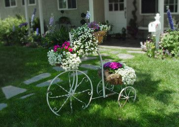 Vintage Bicycle Planter.  Unique look for the garden!