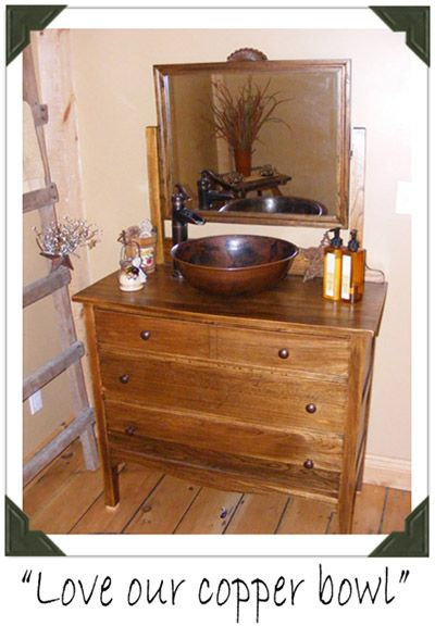 Bv16 Copper Vessel Sink On Retro Fitted Antique Vanity Copper Sinks Direct Ideas