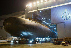 The Virginia-class attack submarine USS North Dakota.