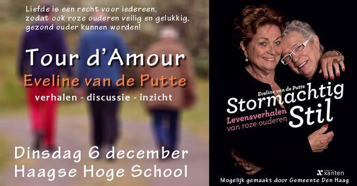6 Dec -  Tour d'Amour - Levensverhalen van roze ouderen - Haagse Hoge School - http://www.wijkmariahoeve.nl/levensverhalen-haagse-hoge-school/