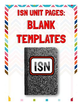 Blank templates to use in your Interactive Student Notebooks!!
