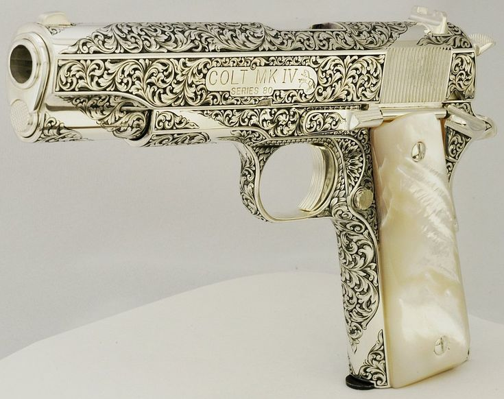 FG82192 was purchased at an Albuquerque Gun Show for $550. Engraving a .45 auto engraved by Leonard Francolini.