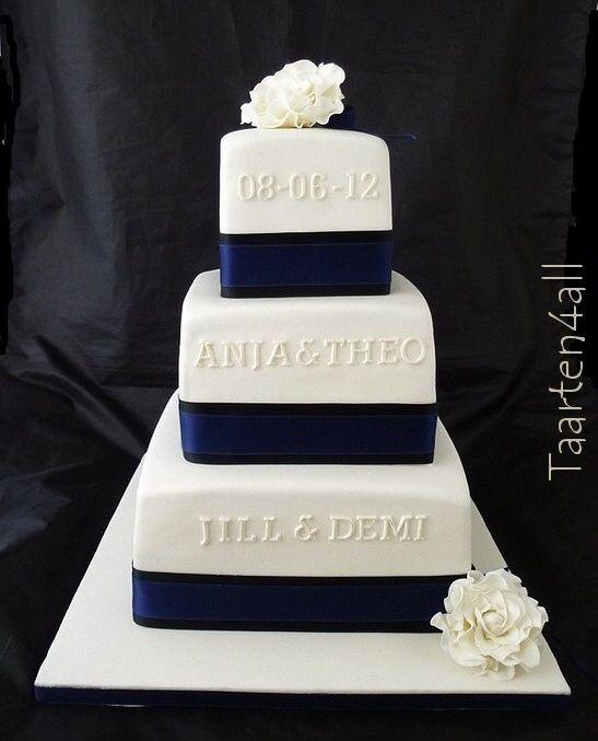 Afbeelding van http://taarten4all.nl/images/stories//taarten/bruidstaarten/bruidstaart%20wit%20blauw-bordermaker.jpg.