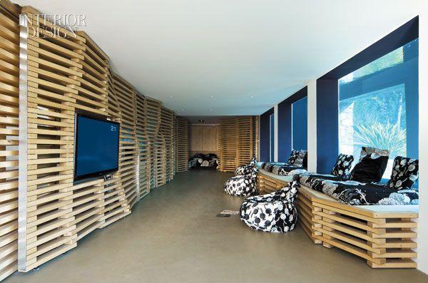 Walls, wood, Seaside Residence, Bandol, France (by Rudy Ricciotti)