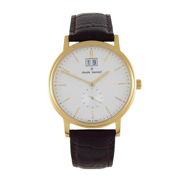 Claude Bernard Men's 64010 37J-AID Classic Gents Goldtoned Strap Watch
