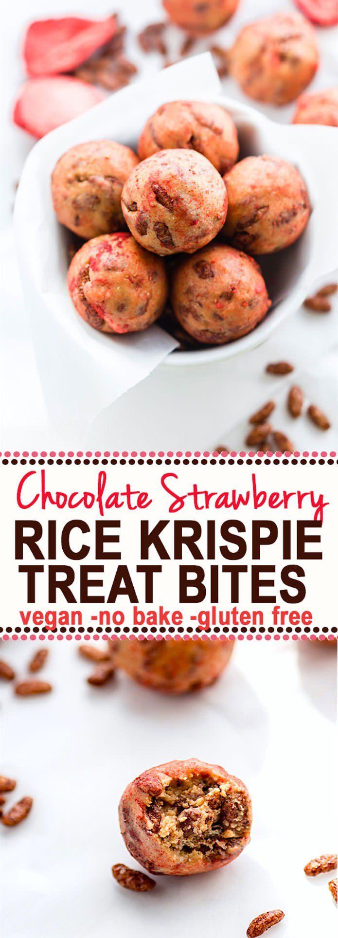 BAKE rice Krispie Treats BITES! Vegan Gluten Free Rice Krispie treats ...